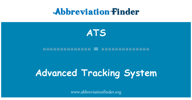 ATS: Advanced Tracking System