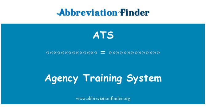 ATS: Agency Training System