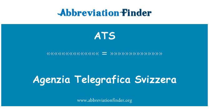 ATS: Agenzia Telegrafica Svizzera