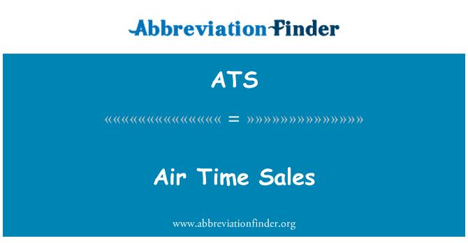 Định nghĩa bằng tiếng Anh: Air Time Sales