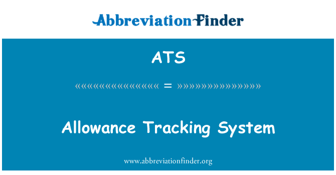 ATS: Allowance Tracking System