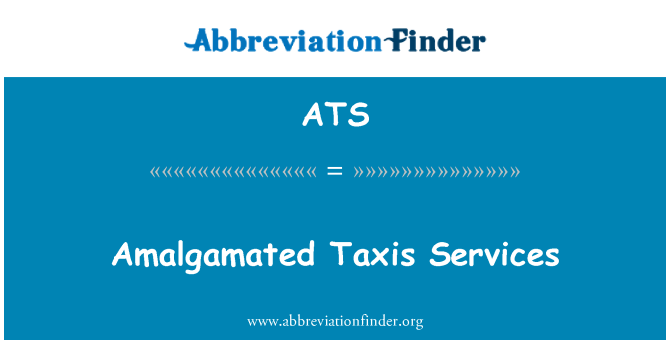 ATS: Amalgamated Taxis Services
