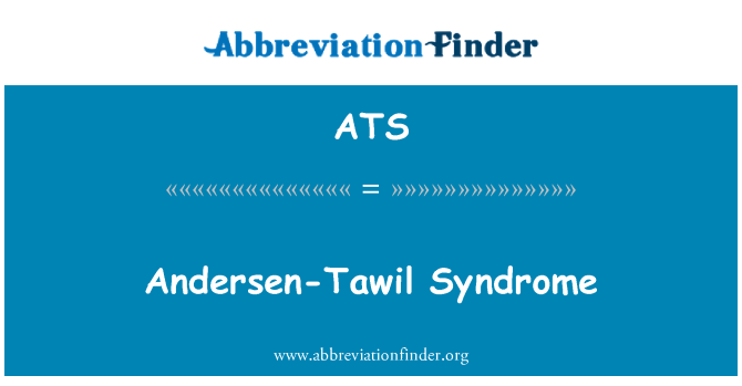 ATS: Andersen-Tawil Syndrome