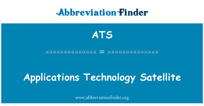 ATS: Applications Technology Satellite
