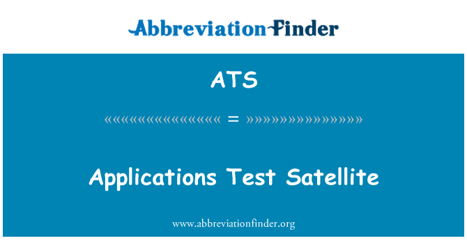 ATS: Applications Test Satellite