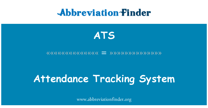 ATS: Attendance Tracking System