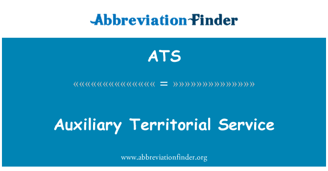 ATS: Auxiliary Territorial Service