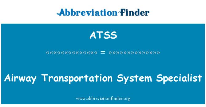 ATSS: Especialista en el sistema transporte vía aérea