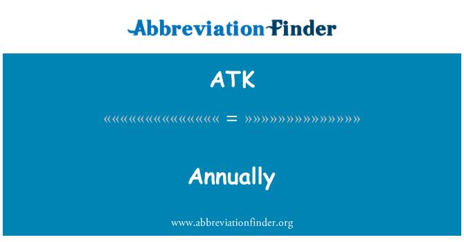 ATK: 每年