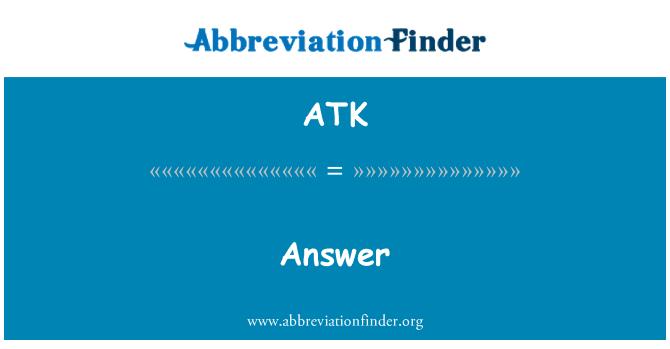 ATK: Jawapan