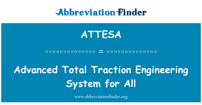 ATTESA: Advanced Total Traction Engineering System for All
