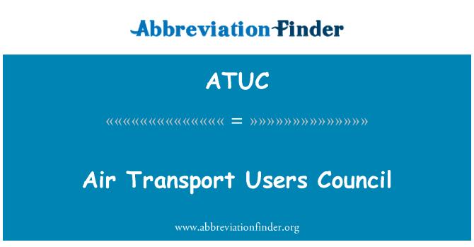 ATUC: Consejo de usuarios de transporte aéreo