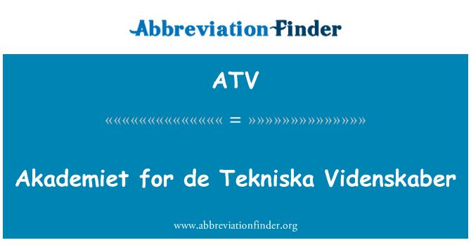 ATV: Akademiet for de Tekniska Videnskaber