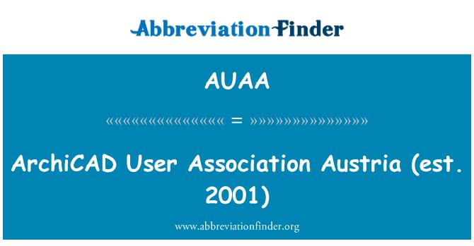 AUAA: ArchiCAD   User Association Austria (est. 2001)