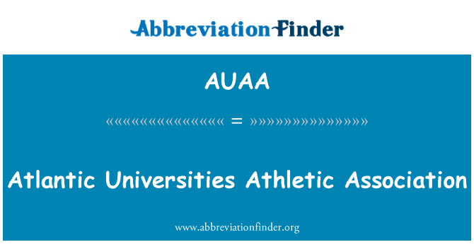 AUAA: Atlantic Universities Athletic Association