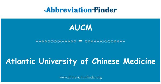 AUCM: Atlantic University of Chinese Medicine