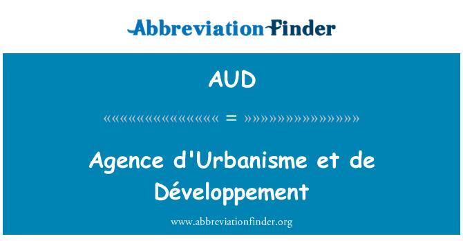 AUD: 法新社处置与城市 et 德与发展