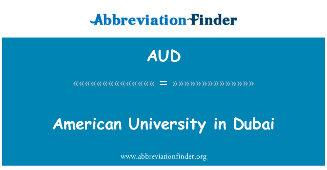 AUD: American University in Dubai