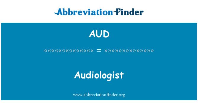 AUD: 听力学家