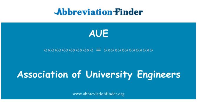 AUE: Association of University Engineers