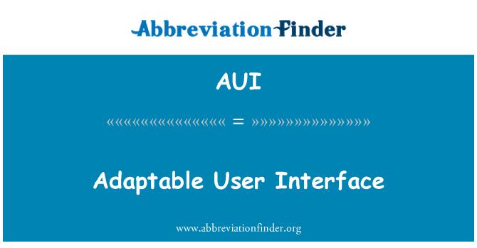 AUI: Adaptable User Interface