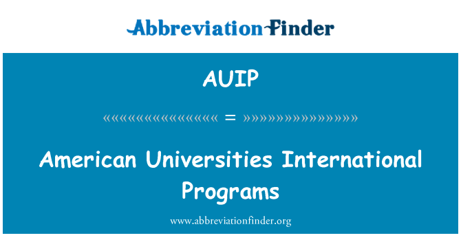 AUIP: American Universities International Programs
