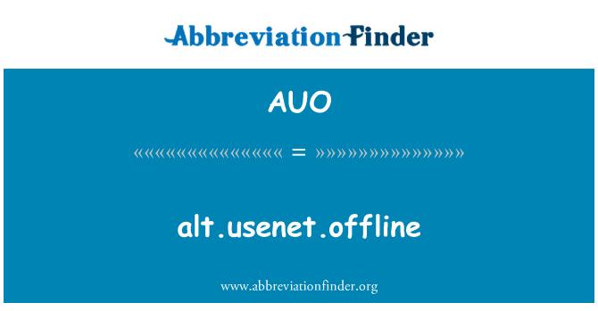 AUO: alt.usenet.offline