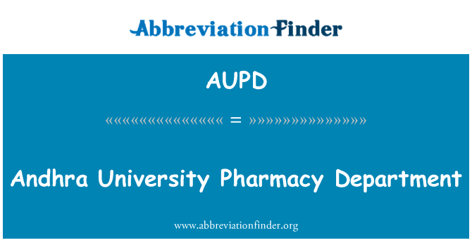 AUPD: Andhra University Pharmacy Department