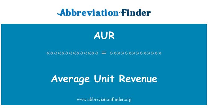 AUR: Average Unit Revenue