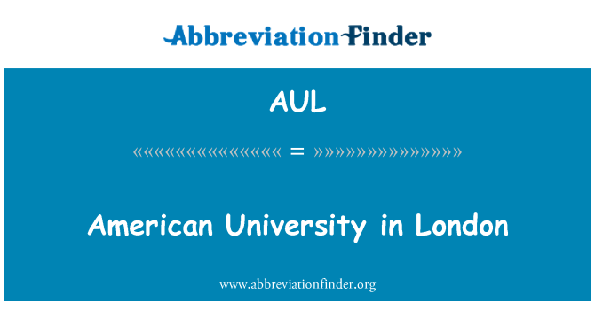 AUL: American University Londonis