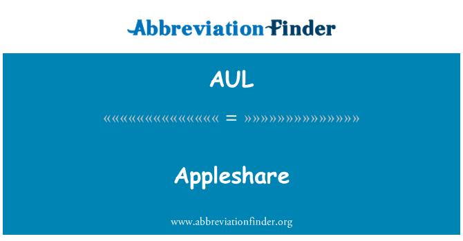 AUL: Appleshare