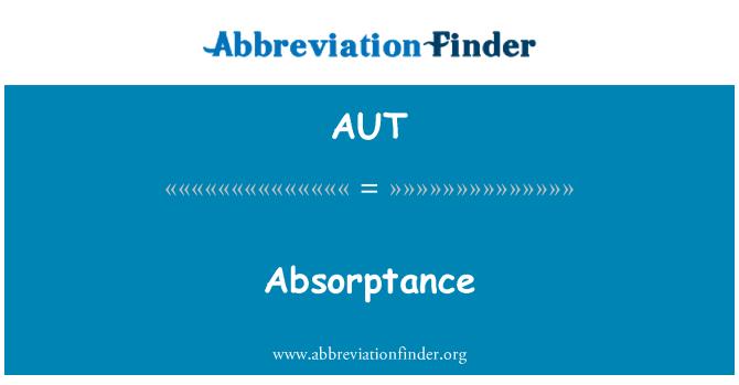 AUT: Absorptance