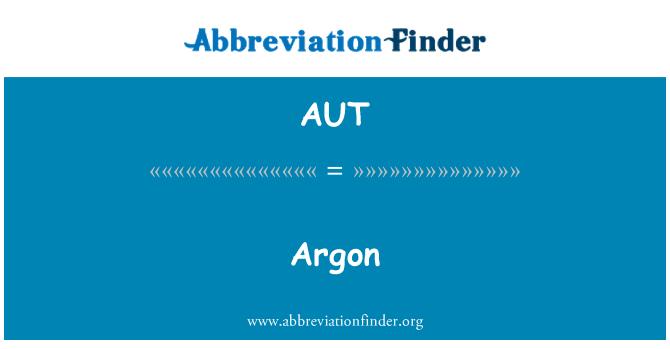 AUT: Argon