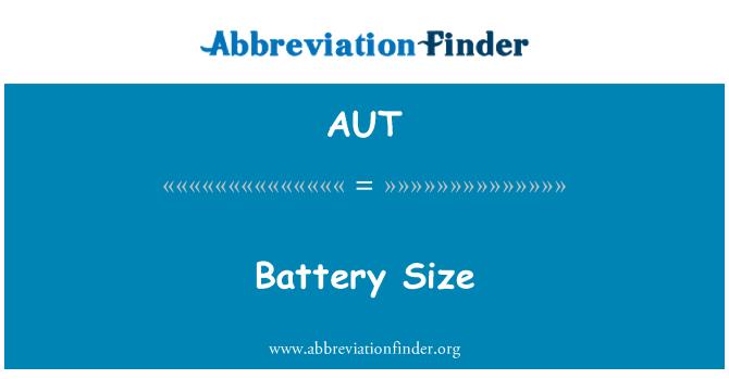 AUT: 电池大小