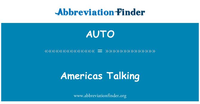 AUTO: Americas bercakap