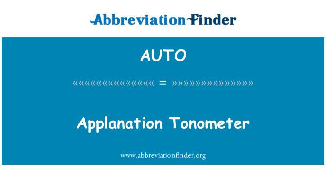AUTO: Tonometer intraokular