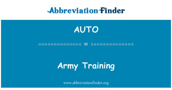 AUTO: 陆军训练