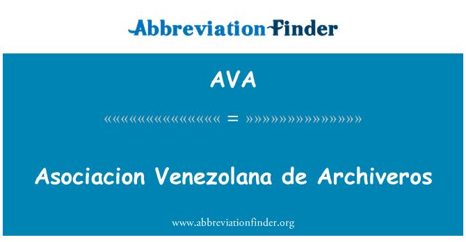 AVA: Asociacion Venezolana de Archiveros