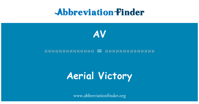 AV: Aerial Victory