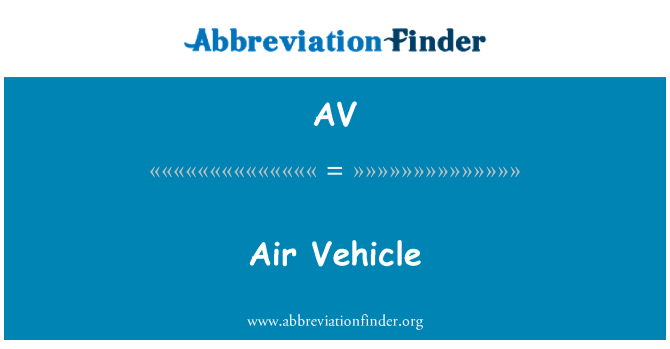AV: Air Vehicle