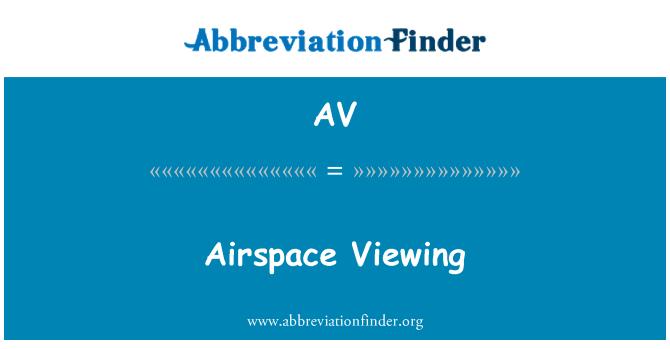 AV: Airspace Viewing