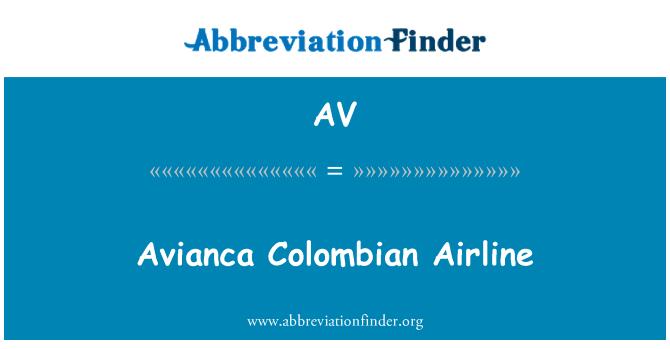 AV: Avianca   Colombian Airline
