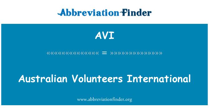 AVI: Australian Volunteers International