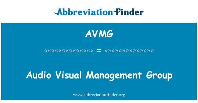 AVMG: Audio Visual upravljanje skupine