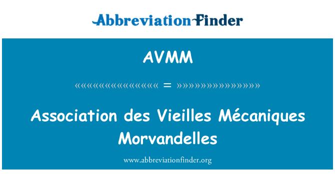 AVMM: Association des Vieilles Mécaniques Morvandelles