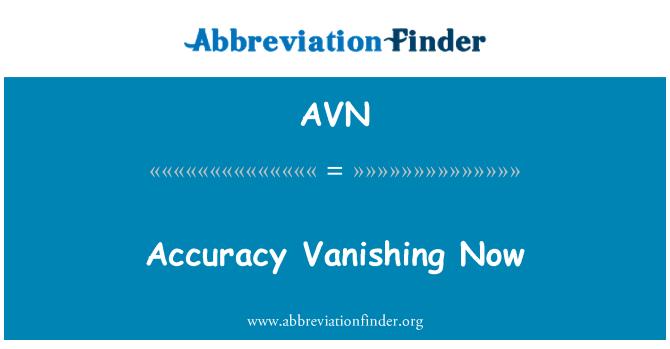 AVN: Accuracy Vanishing Now