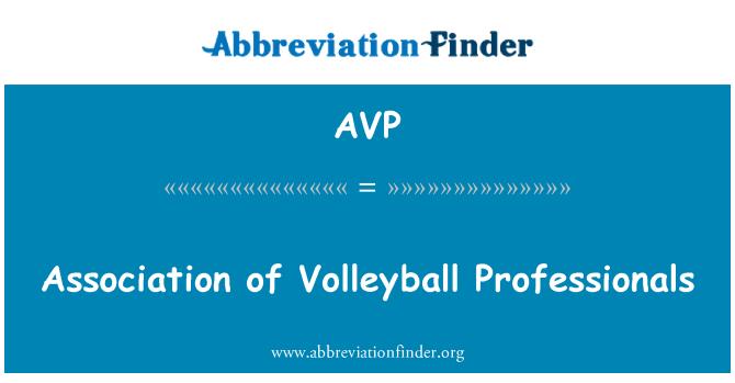AVP: Association of Volleyball Professionals