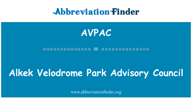 AVPAC: Alkek Velodrome Park Advisory Council