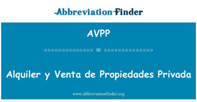 AVPP: Alquiler y Venta de Propiedades Privada
