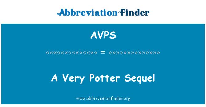 AVPS: Nadaljevanje zelo Potter